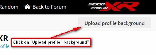 Upload Profile Background